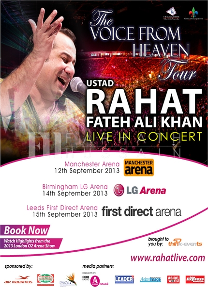 THE VOICE FROM HEAVEN TOUR	RAHAT FATEH ALI KHAN